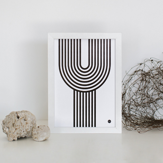 Scandinavian prints | Yamba Scandi black & white prints | The Y print