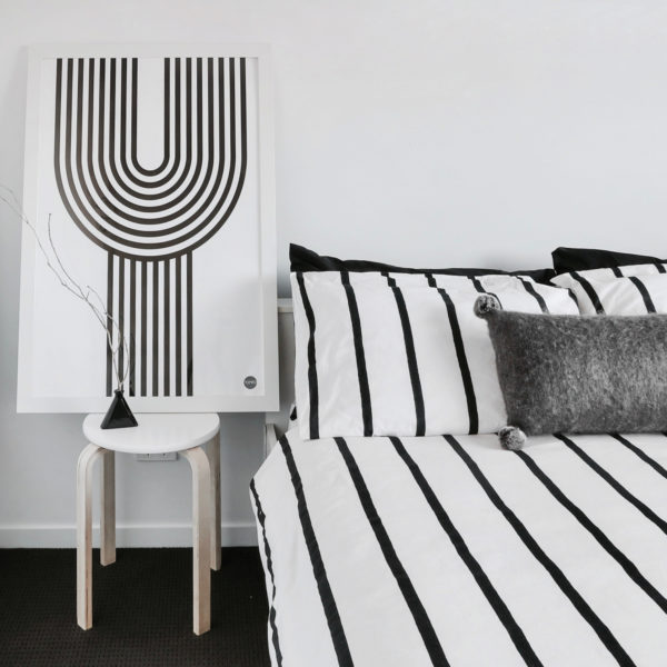 Scandinavian prints | Yamba Scandi black and white prints | The Y print