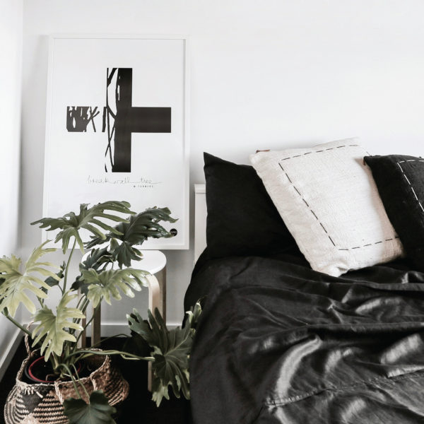 Scandinavian prints | Yamba Scandi black and white prints | The Cross print