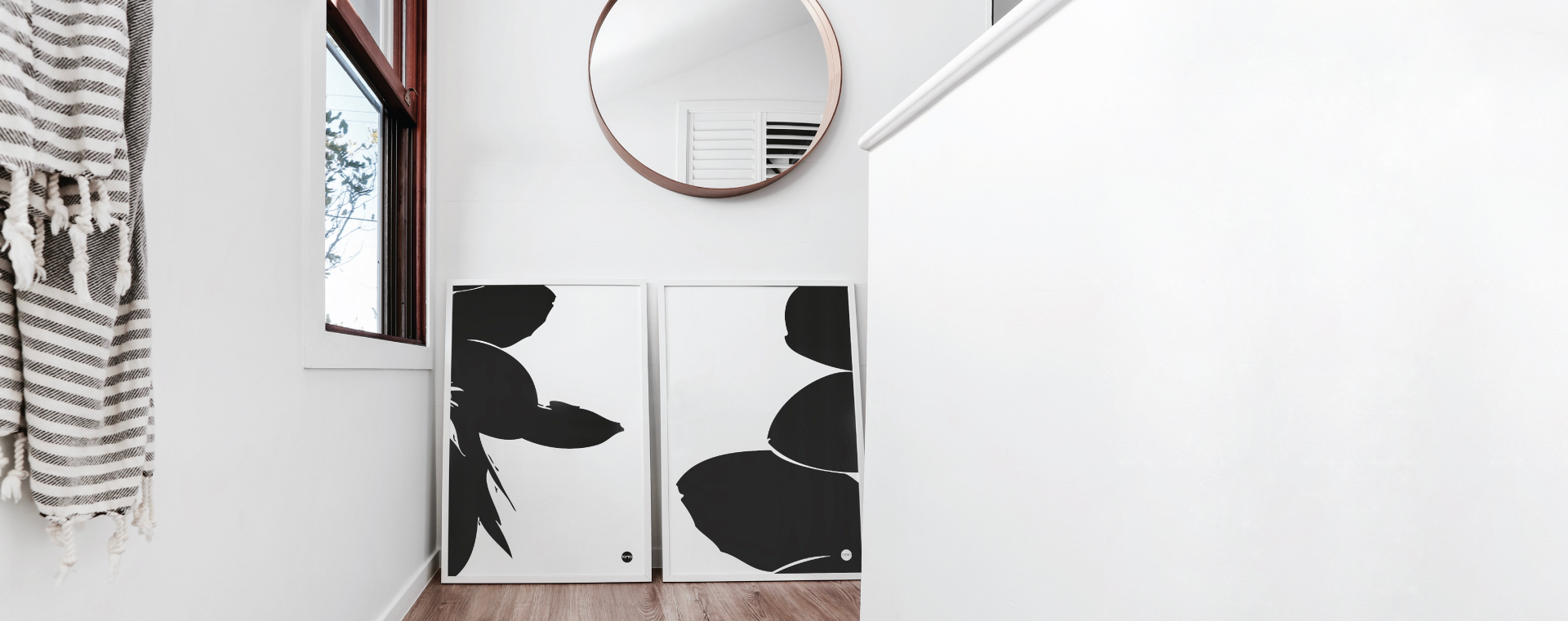 Scandinavian prints Yamba Scandi black and white prints